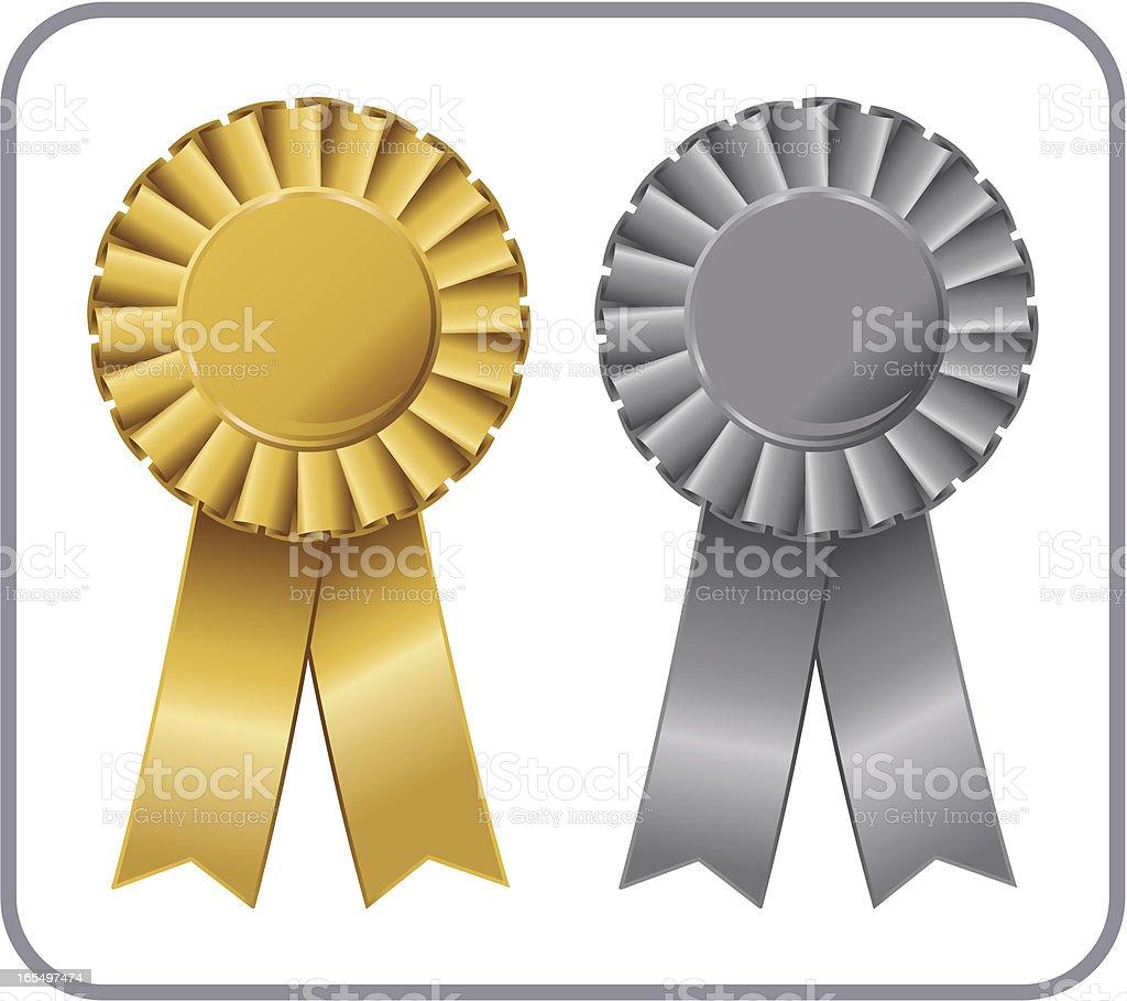 Gold & Silver Ribbon royalty-free stock vector art