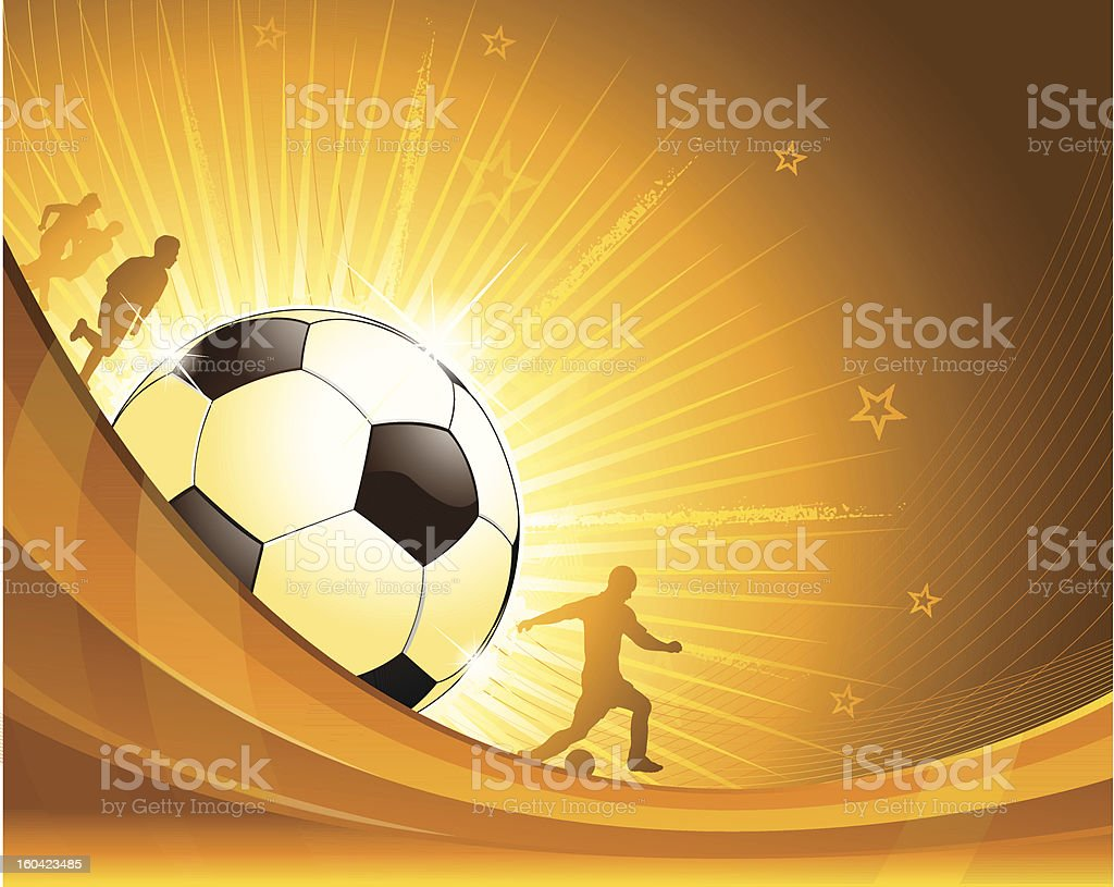 Gold soccer background illustration royalty-free gold soccer background illustration stock vector art & more images of abstract