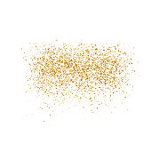 Gold sparkles on white background.  Luxury golden shiny abstract texture.