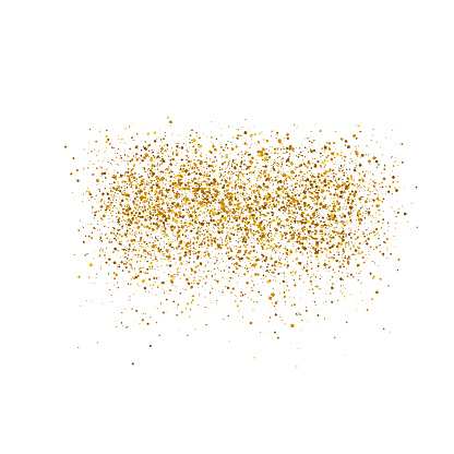 Gold Sparkles On White Background Luxury Golden Shiny Abstract Texture Vector Illustration Eps 10 Stock Illustration - Download Image Now