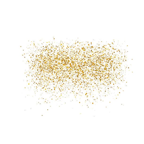 gold sparkles on white background.  luxury golden shiny abstract texture. vector illustration, eps 10. - блёстки stock illustrations