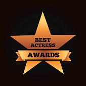 gold star award best actress winner ribbon