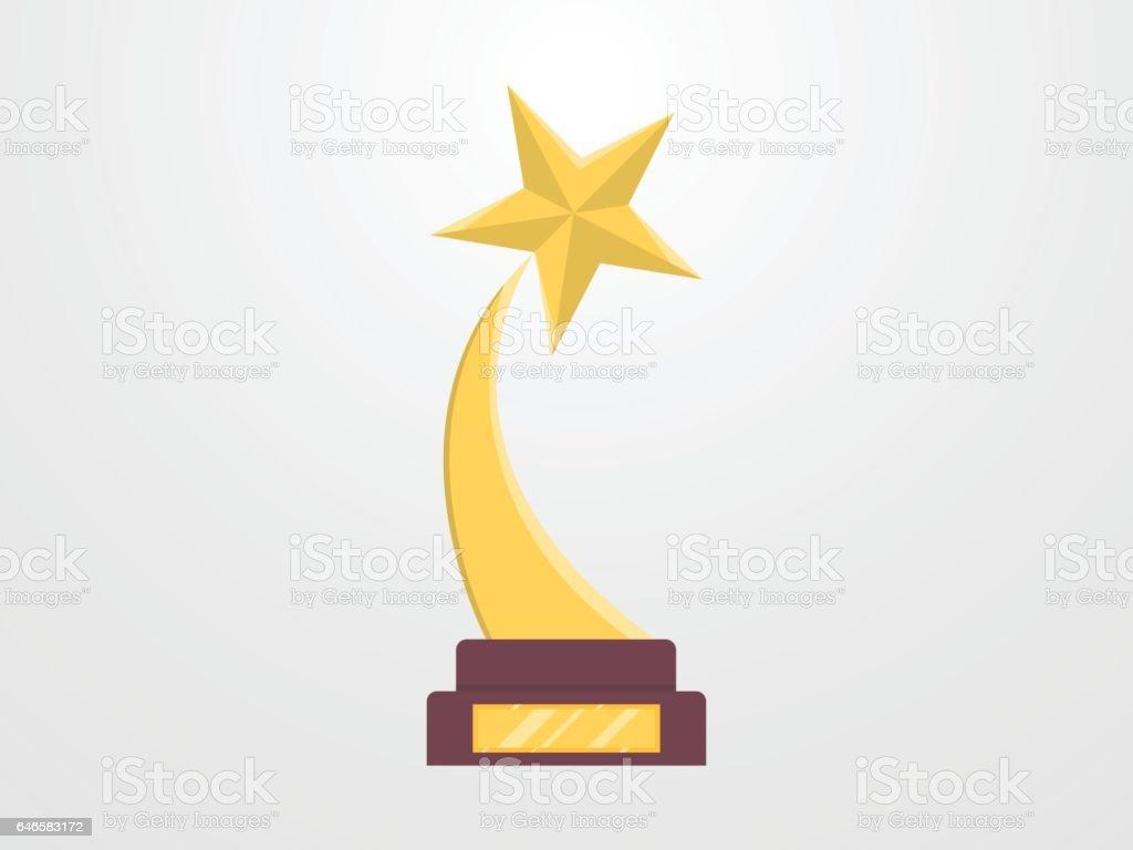 Gold Star Award Trophy Royalty Free Stock Vector Art Amp