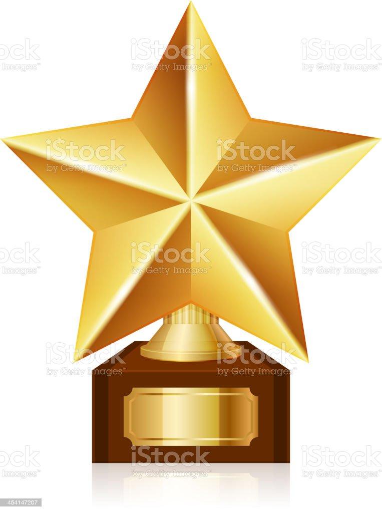 gold star award royalty-free stock vector art