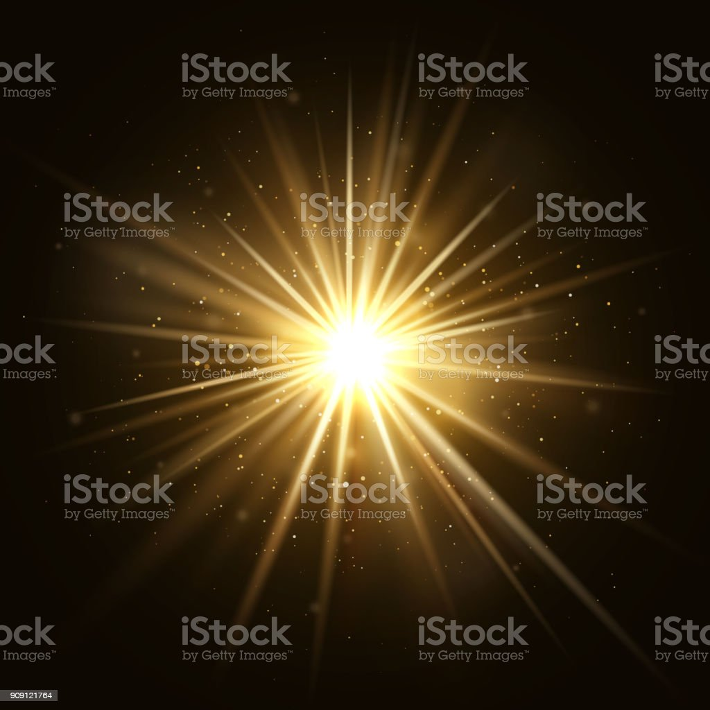 Gold star burst. Golden light explosion isolated on dark background vector illustration royalty-free gold star burst golden light explosion isolated on dark background vector illustration stock illustration - download image now