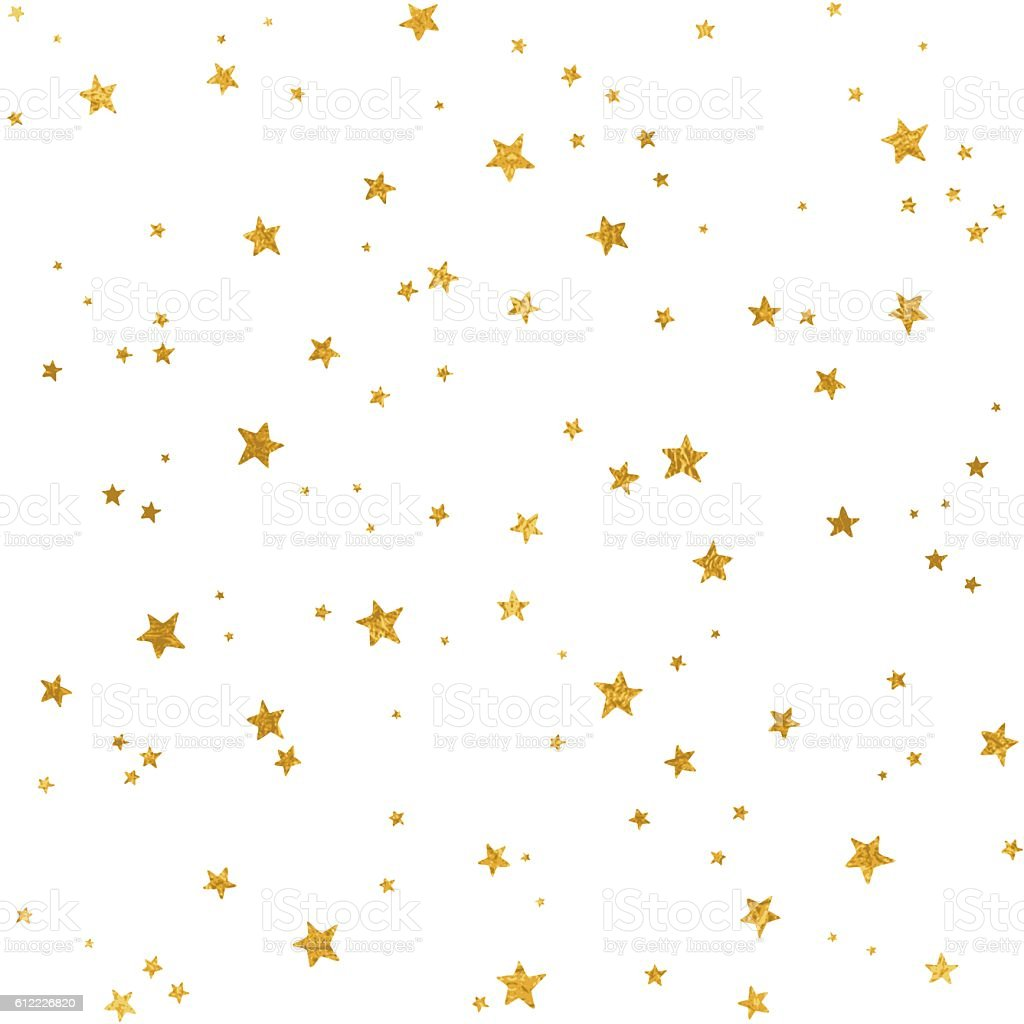 Gold star pattern vector art illustration
