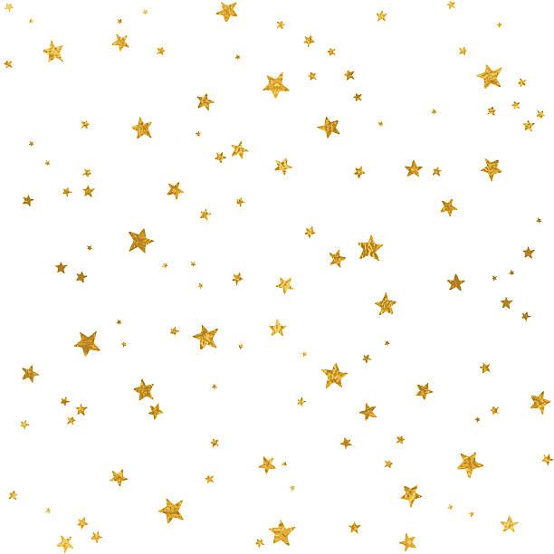 Gold star pattern vector art illustration
