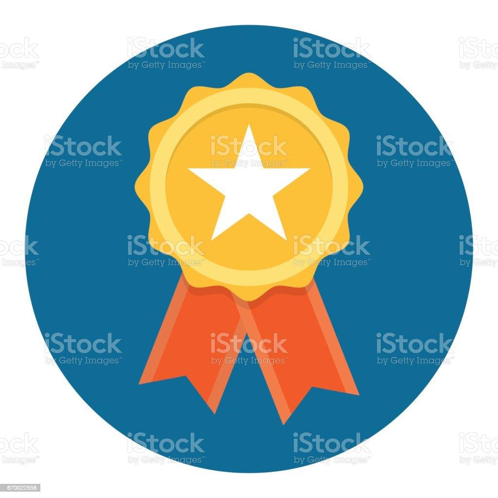 Distintivo da qualidade de estrela de ouro - Vetor de Aprimoramento royalty-free