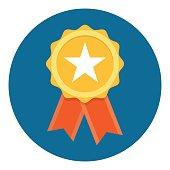 istock Gold Star Quality Badge 670022558