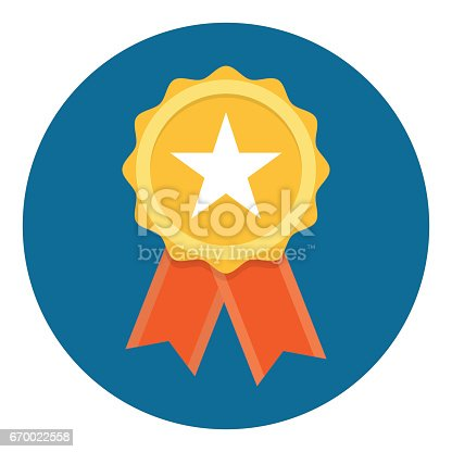 istock Gold Star Quality Badge 670022558