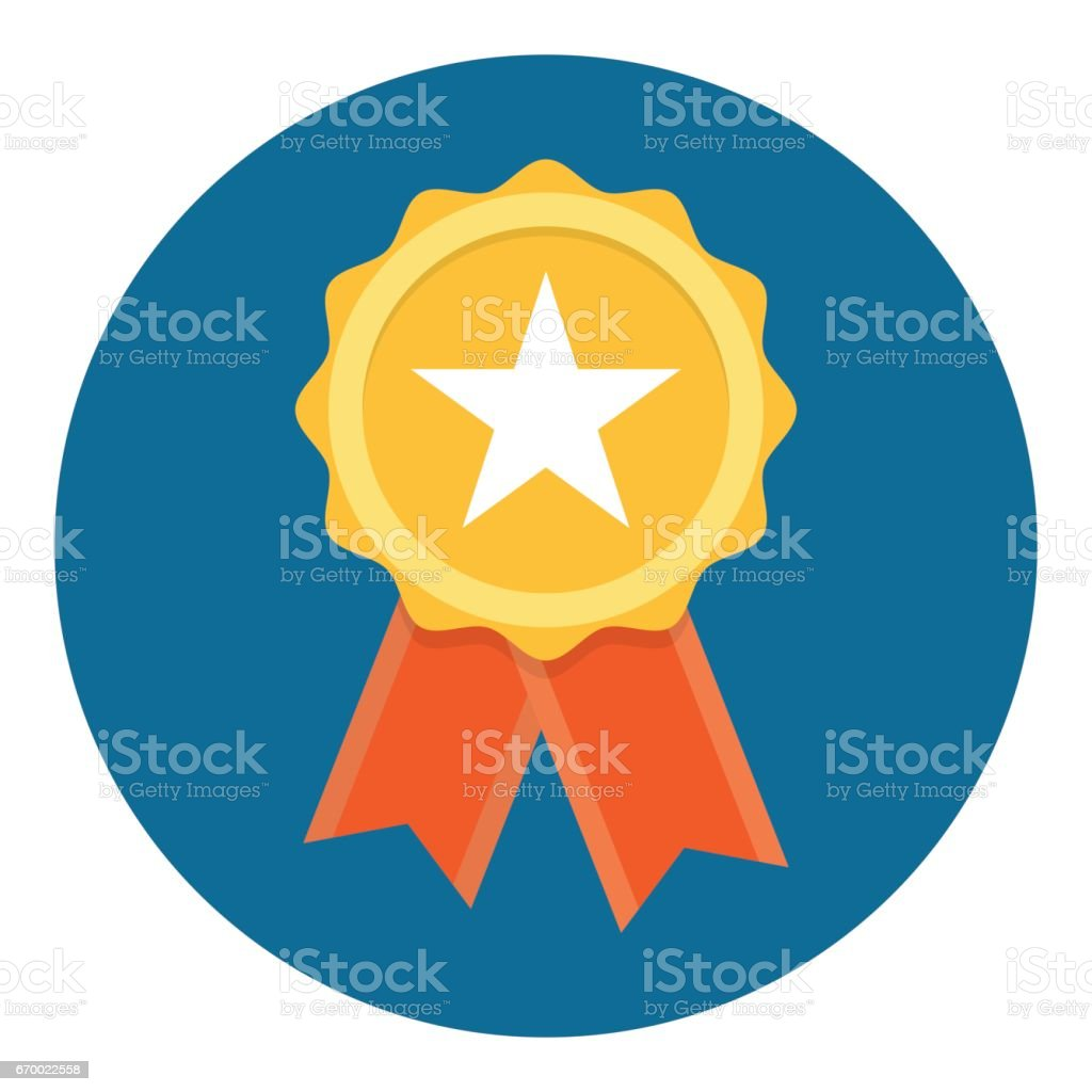 Gold Star Quality Badge vector art illustration