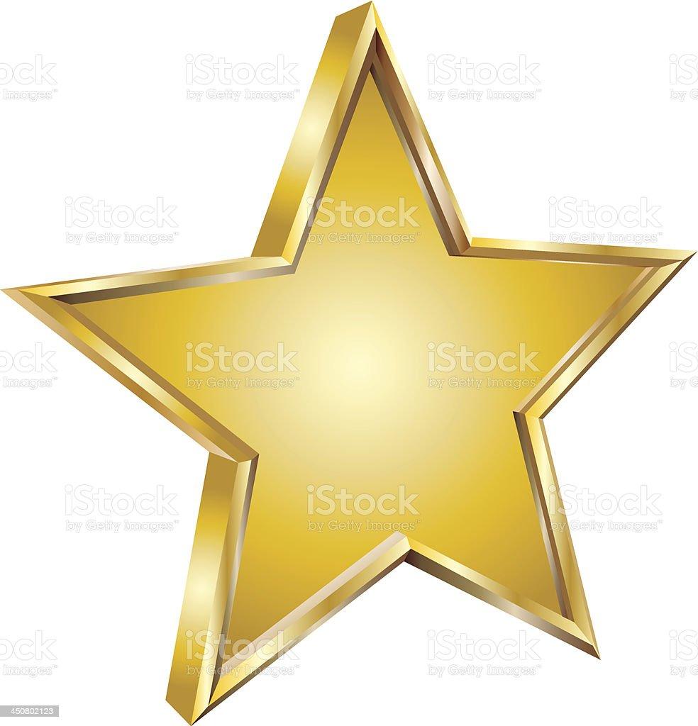 Gold star vector art illustration