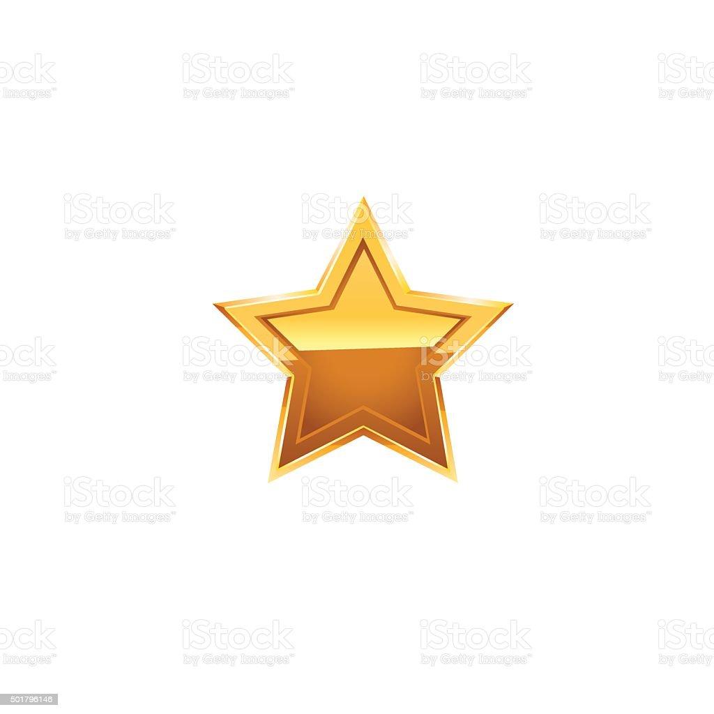 Gold star  Vector vector art illustration