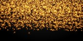 Gold stars dots scatter texture confetti background