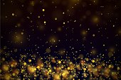 istock Gold stars dots scatter texture confetti background 1194166456