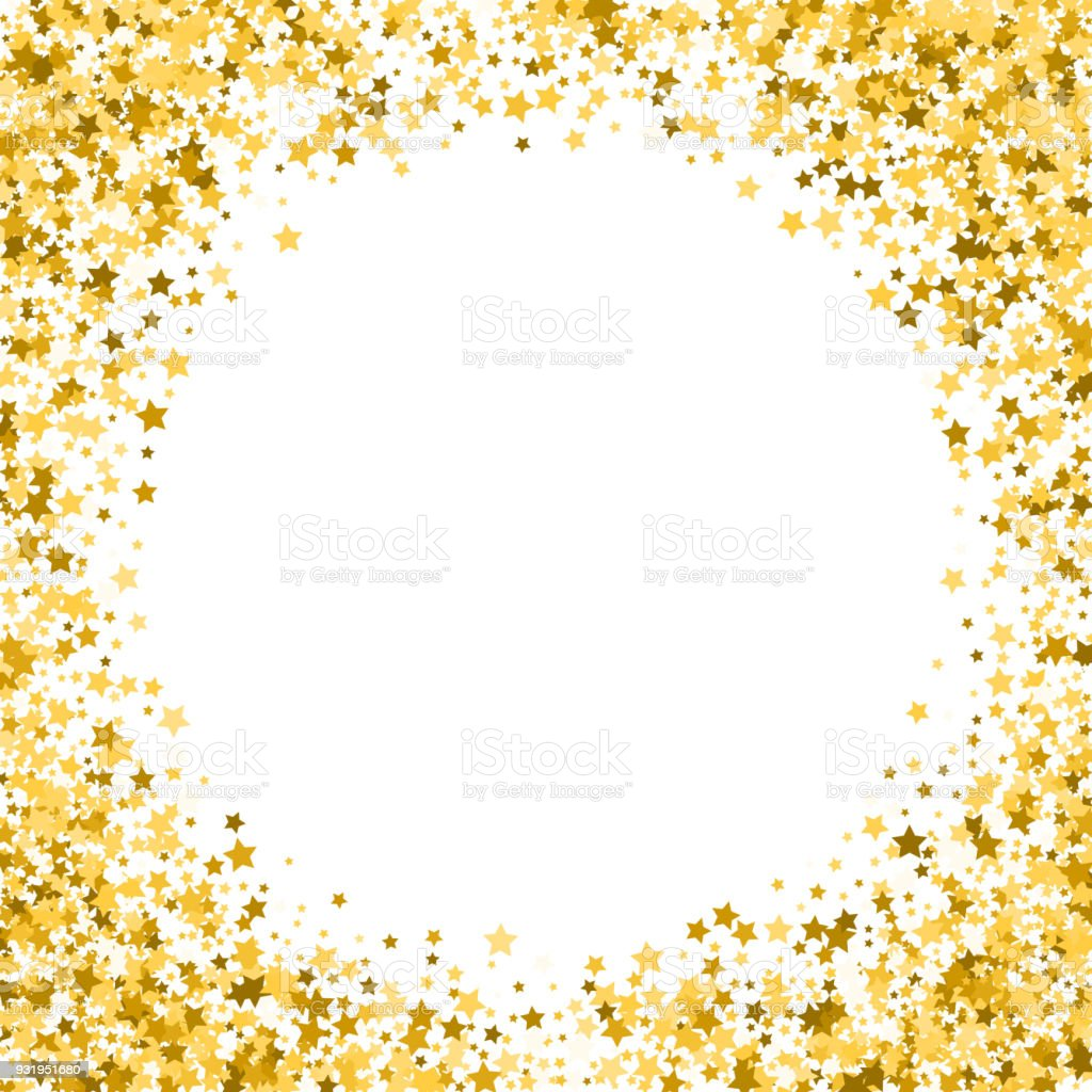 gold stars on a white background golden stars on a white square