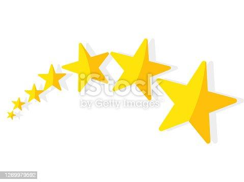 gold Stars. stars symbols isolated on background. Vector illustration eps