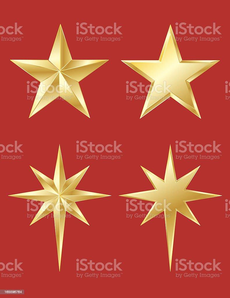 Estrelas douradas ilustração de estrelas douradas e mais banco de imagens de comemoração - evento royalty-free