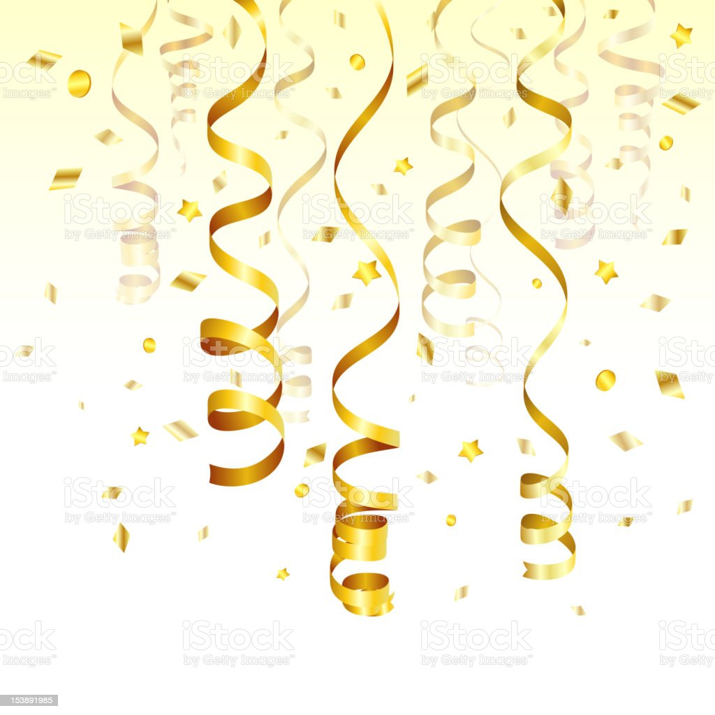 Gold Streamer vector art illustration