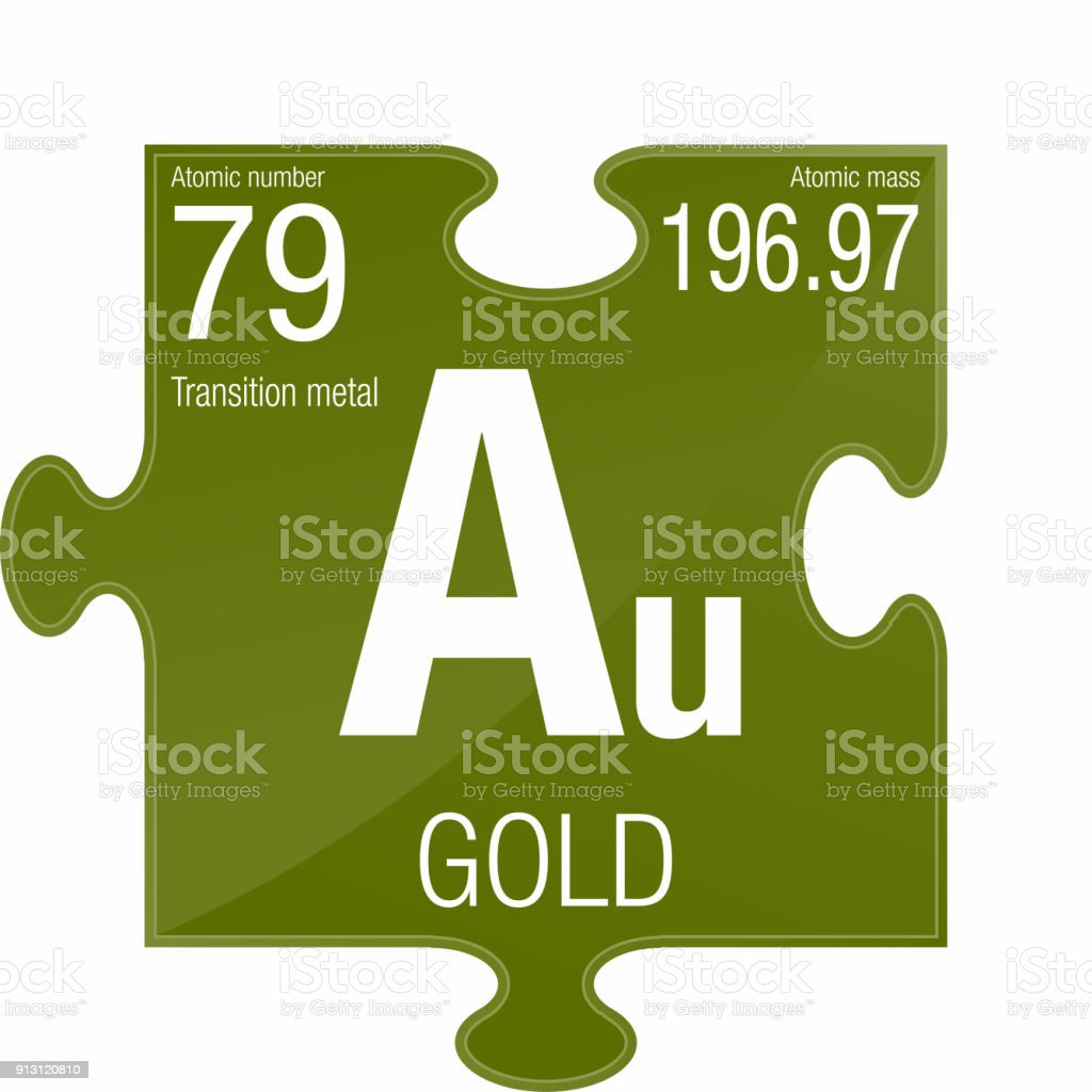 Gold Symbol Element Number 79 Of The Periodic Table Of The Elements