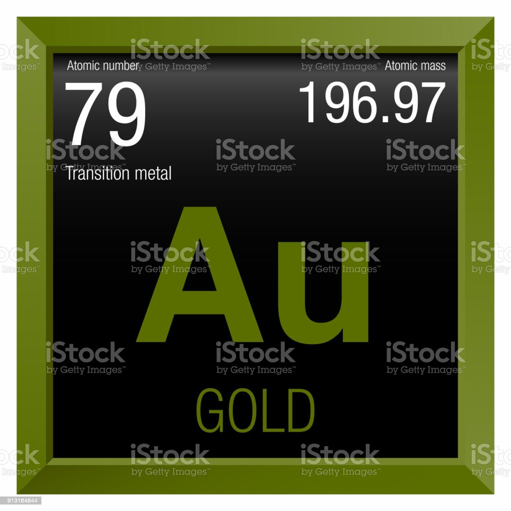 gold symbol element number 79 of the periodic table of the elements chemistry royalty - Periodic Table Symbol Gold