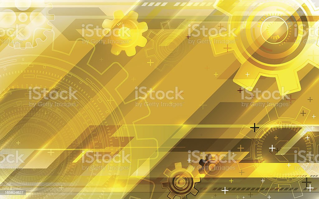 Gold tech background. royalty-free stock vector art