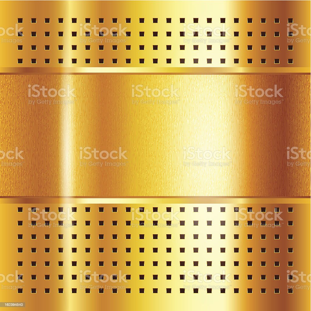 Gold template, metallic background royalty-free stock vector art
