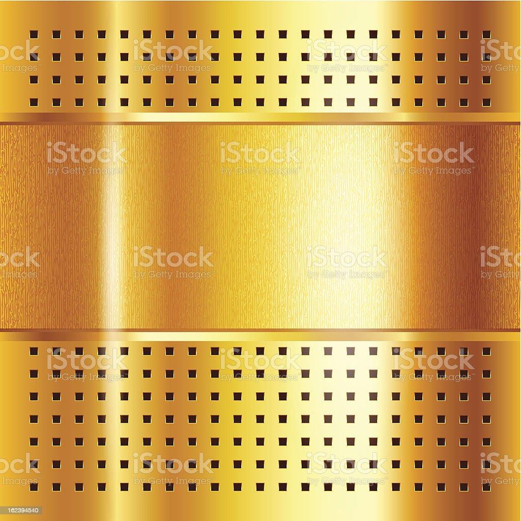 Modelo de fundo dourado metálico - ilustração de arte em vetor