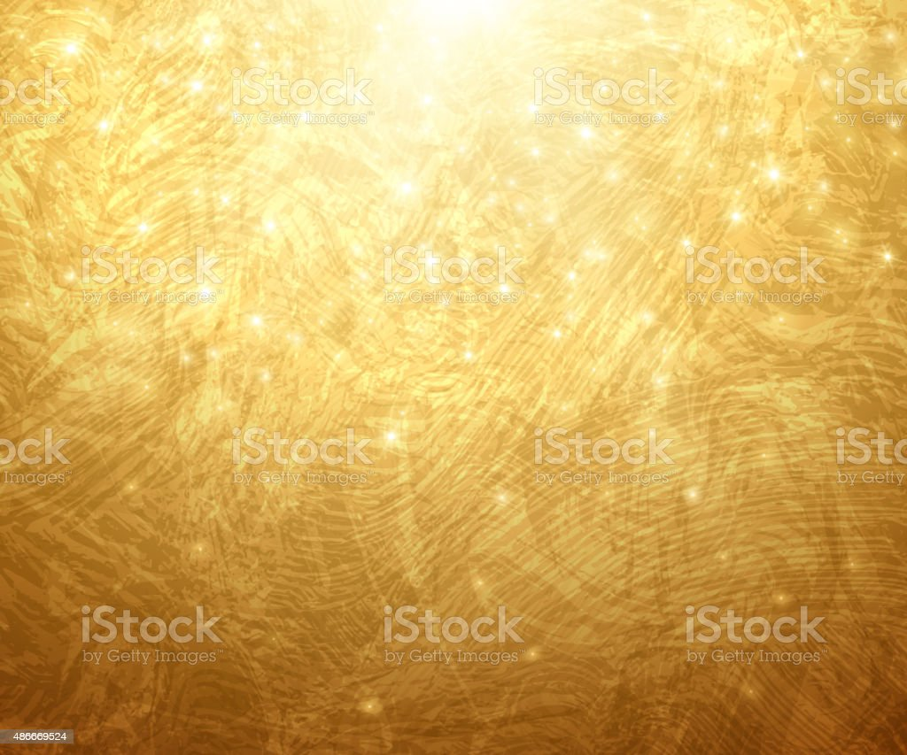 Gold Textured Background. Vector Illustration. Shining Christmas or...