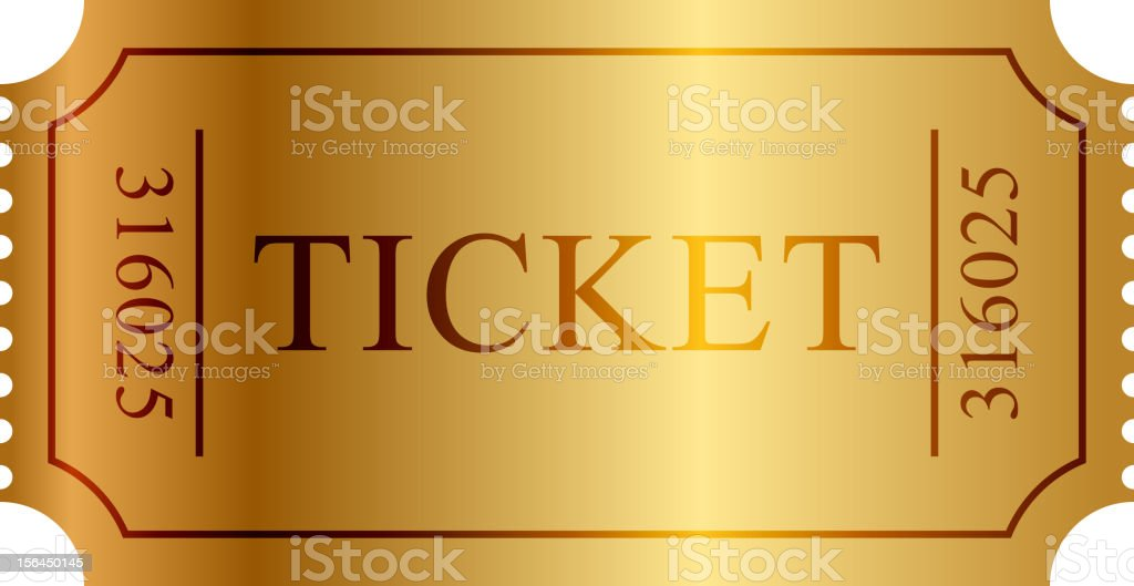ticket en or - Illustration vectorielle