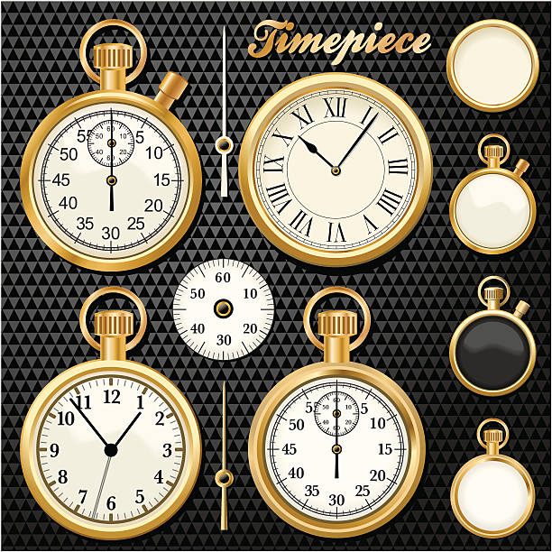 Gold Timepiece vector art illustration