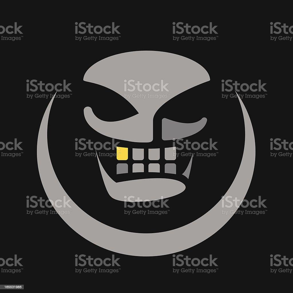 Gold Tooth Skull royalty-free stock vector art