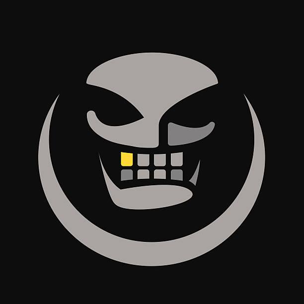 Gold Tooth Skull vector art illustration