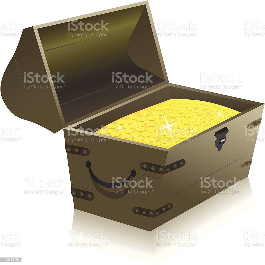 Gold Treasure Chest royalty-free gold treasure chest stock vector art & more images of antique