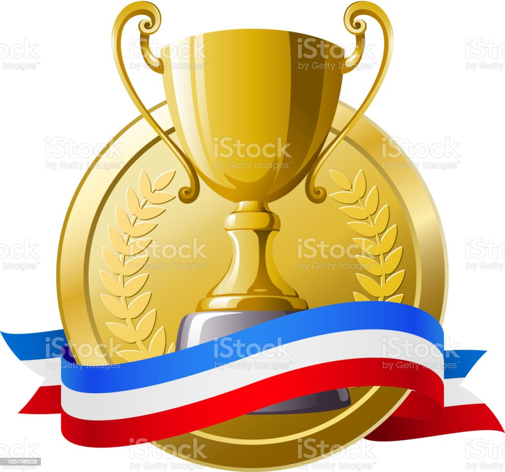 Gold Trophy royalty-free stock vector art