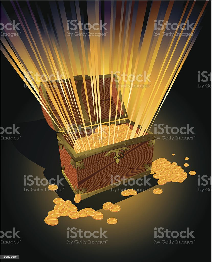 Gold trunk. royalty-free stock vector art