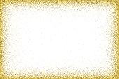 Gold vector glitter frame