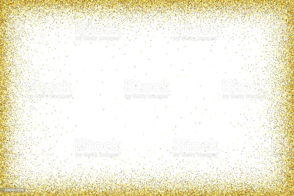 Gold vector glitter frame vector art illustration