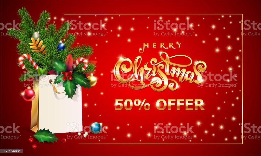 Frohe Weihnachten 3d.Gold Handgezeichneten Vektor Schrift Text Frohe Weihnachten 3d