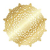 Gold vector mandala illustration