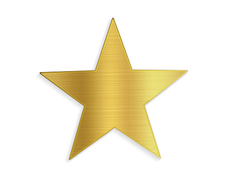 Gold Vector Star Shape