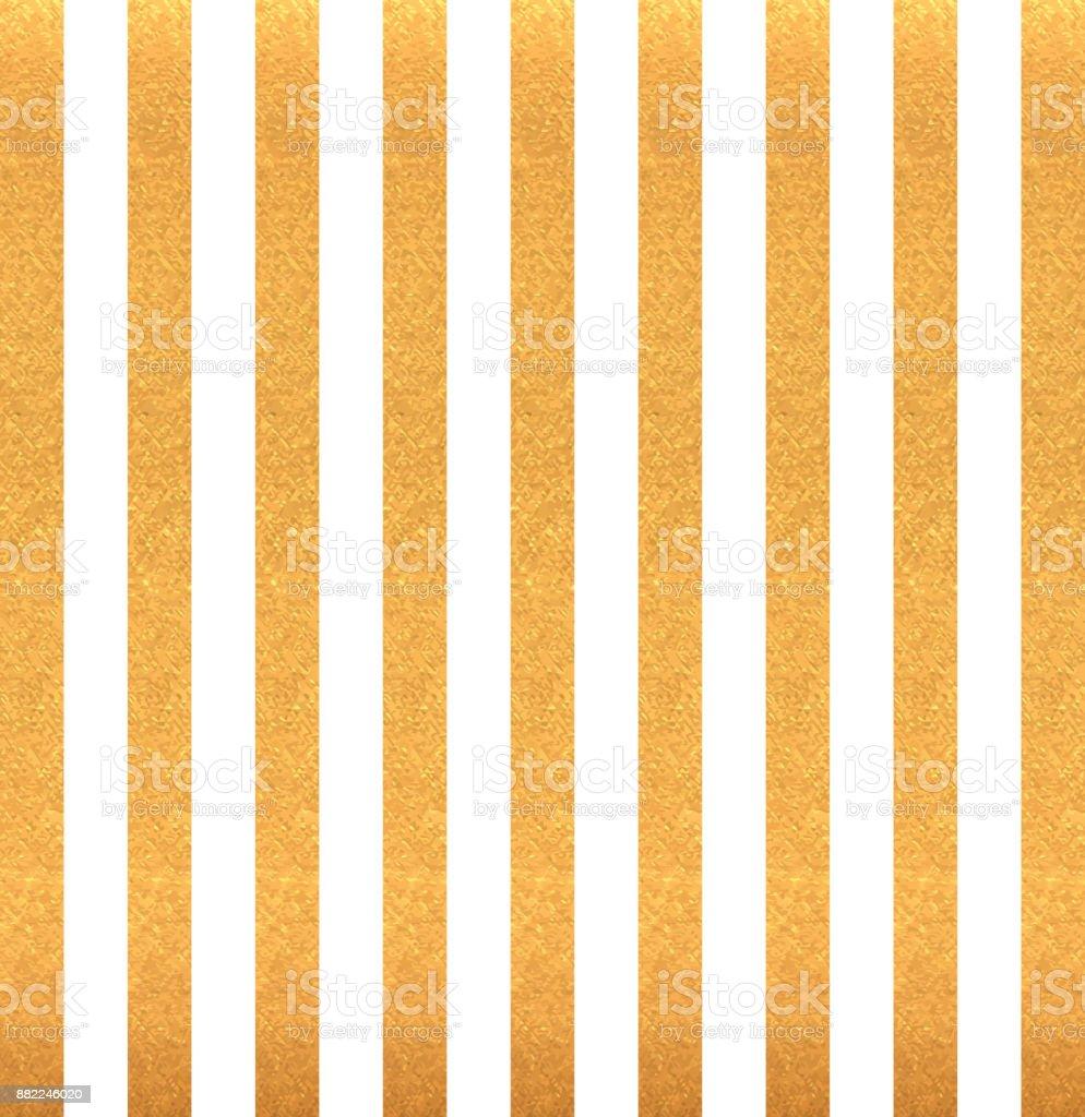 Gold vertical stripes on white background. vector art illustration