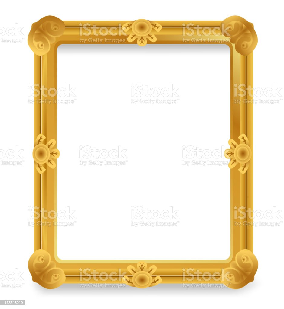 Gold Vintage Frame. royalty-free stock vector art