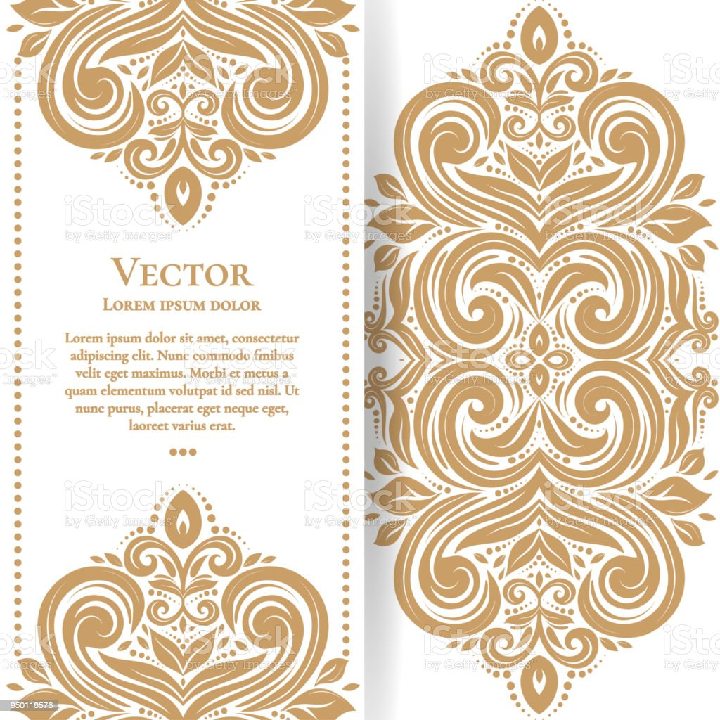 Gold vintage greeting card on a white background luxury ornament gold vintage greeting card on a white background luxury ornament template mandala royalty m4hsunfo