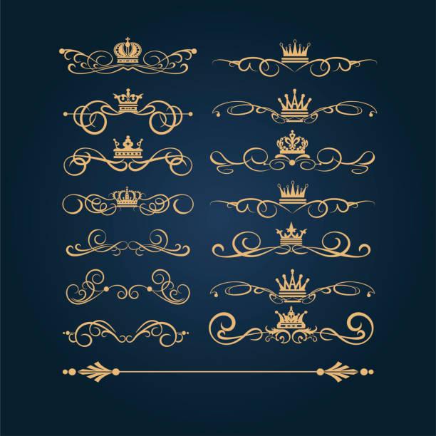 黃金復古飾品, 向量 - 皇冠 頭飾 幅插畫檔、美工圖案、卡通及圖標