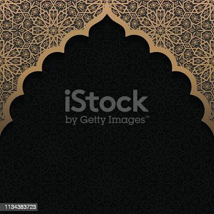 istock Gold Vintage Scroll Frame 1134383723