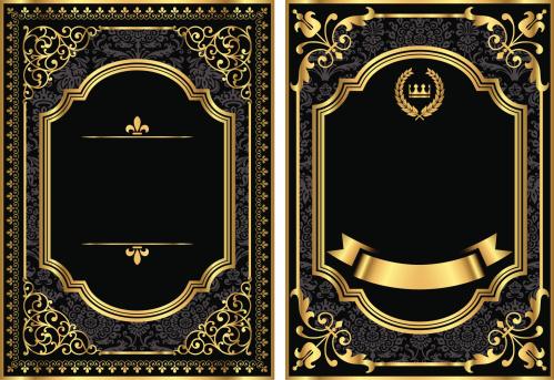 Gold Vintage Scroll Frames