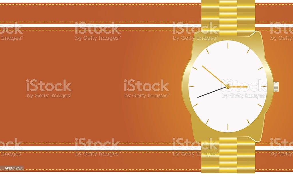 Gold watches royalty-free stock vector art