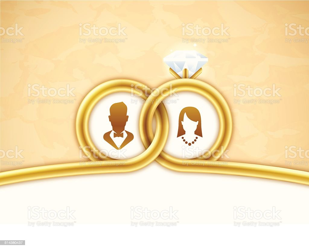 Gold Wedding Background Stock Vector Art & More Images of ...