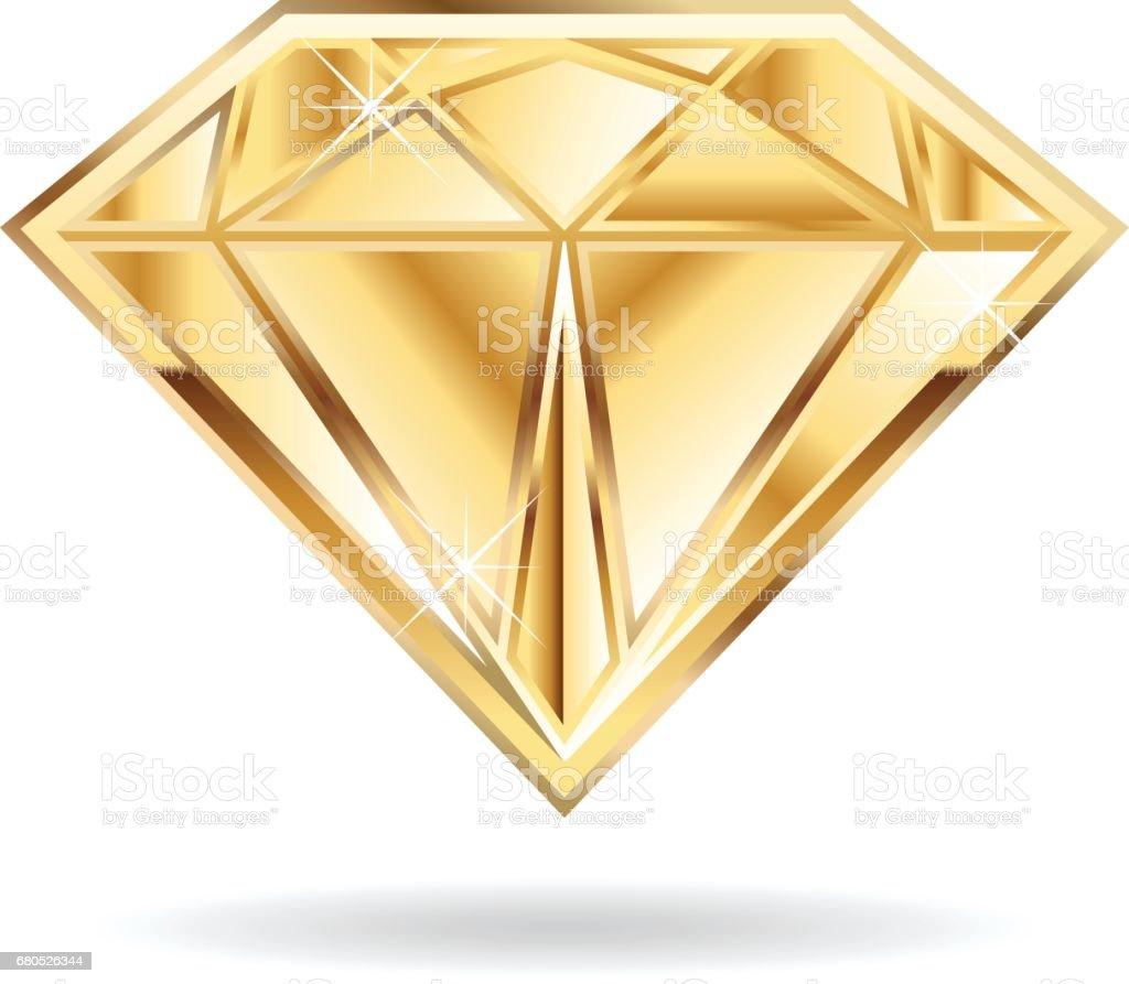Goldene Hochzeit Diamant Symbol Vektorgrafikdesign Stock Vektor Art